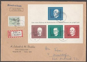GERMANY 1969 Registered cover - nice franking...............................B356
