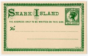 (I.B) Cinderella : Gerald King Wonderland : (Snark Island Postcard ½d)