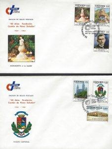 Costa Rica 50 Years Cantón Pérez Zeledón,Coat of Arms, Sc C877-C882 FDC 1982