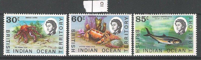 British Indian Ocean Territory 1970 Marine Definitives MNH CV £7.75