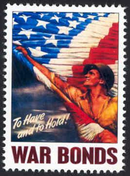 Patriotic WW2 Poster Stamp - To Have & To Hold - Cinderella