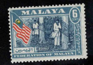 MALAYA Federation Rubber tree tapping stamp MH*