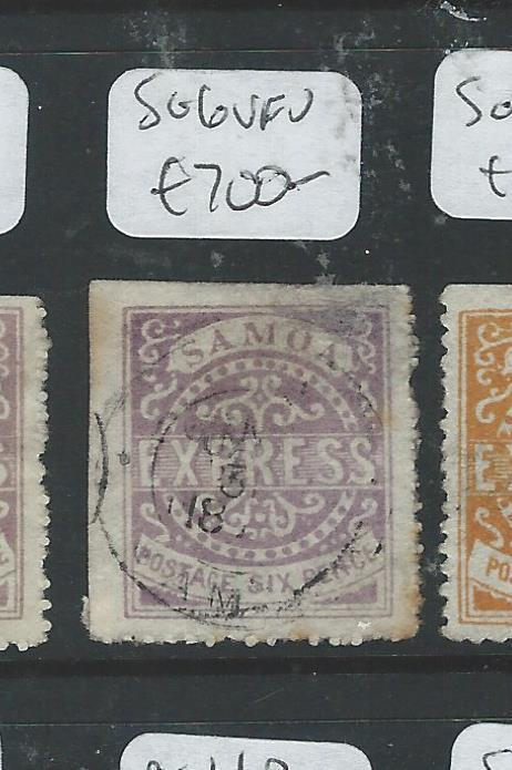 SAMOA (P1306B) EXPRESS ALL CHECKED BY LATE JACK HUGHES 6D  SG 6  VFU