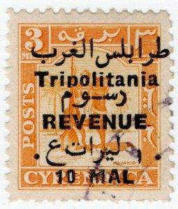 (I.B) BOIC (Tripolitania) Revenue : Duty Stamp 10m