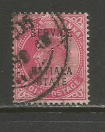 India-Patiala  #O21  Used  (1903)