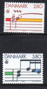 Denmark Sc 773-4 1985 Europa stamp set mint NH