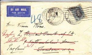 1935, Penhaloga, South Rhodesia to London, England, Forwarded (30379)