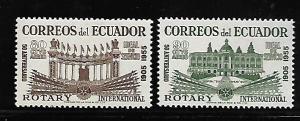 ECUADOR C280-281 MNH ROTARY EMBLEM