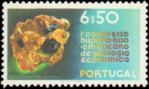 Portugal #1106-1109, Complete Set(4), 1971, Minerals, Never Hinged