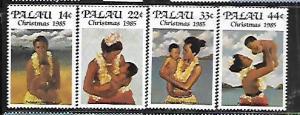 PALAU, 90-93, MNH, CHRISTMAS 1985