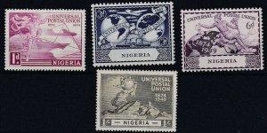 NIGERIA  1949  SG 64 - 67  UPU SET  MNH