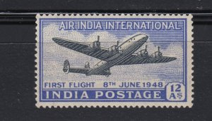 J28321 1948 india set of 1 mh #c7 airplane