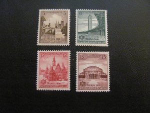 GERMANY 1938 MNH SC# 486-9 SPORTS FESTIVAL SET $16 (113)