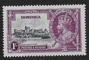 DOMINICA SC# 93  FVF/MOG 1935