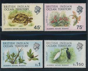 British Indian Ocean Territory 39-42 Flowers, birds