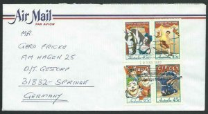 AUSTRALIA 1997 cover to Germany - nice franking - Sydney Pictorial pmk.....14789