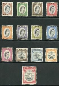 Grenada SG192/104 1953 Set of 13 Top value M/M (rest U/M)