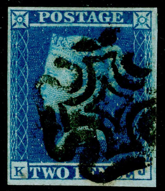 SG14, 2d blue, FINE used. Cat £275. BLACK MX. KJ
