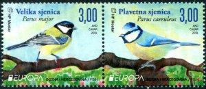 HERRICKSTAMP NEW ISSUES BOSNIA (CROAT ADMIN) Sc.# 388 EUROPA 2019 Birds Pair