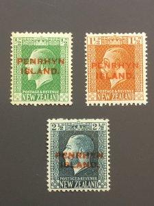 Penrhyn Is. 17,19,21 F-VF MHR. Scott $ 4.45