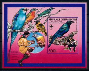 [77222] Central African Rep. 1988 Scouting Birds Vögel Imperf. Sheets MNH