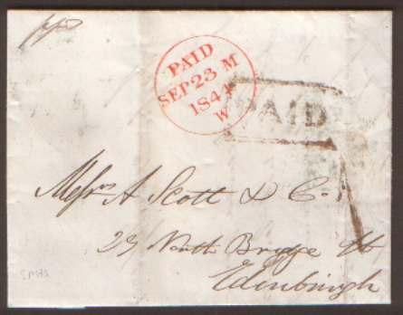 Scotland 1844 El PAID & UPP 1 Of ...