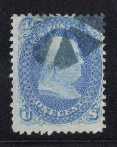 US Stamp Scott #92 F Grill Used SCV $425