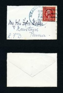 Mini-Cover from Meadowbrook, PA, DPO, to Norristown, PA w/Sympathy card 2-22-26