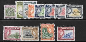 PITCAIRN ISLANDS SG18/28 1957 DEFINITIVES MNH