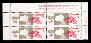 CANADA $1 & $2 Olympics Mint Plate Blocks SC687 & SC688