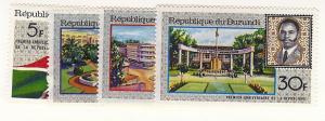 Burundi, 218-21, First Anniversary of Republic, Singles, MNH