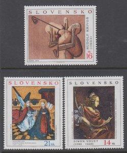 Slovakia 443-445 Paintings MNH VF