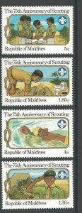 1982 Maldive Islands Boy Scout 75th anniversary