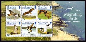 Alderney 190a Birds Souvenir Sheet MNH VF