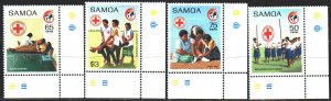 Samoa. 1989. 681-84. Red cross, scouts, medicine. MNH.