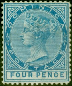 Dominica 1879 4d Blue SG7 Fine & Fresh Mtd Mint