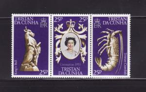 Tristan Da Cunha 238 Set MNH Elizabeth II Coronation Anniver
