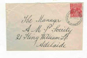 APH1458) Australia 1930 2d Red KGV Die III Small Cover