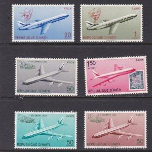 Haiti # C171-176 & C176a, Airplanes, Mint  NH, 1/2 Cat.