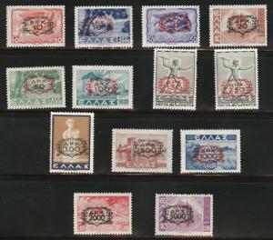 Greece Scott 472-481 MH* complete 1946 set CV $236