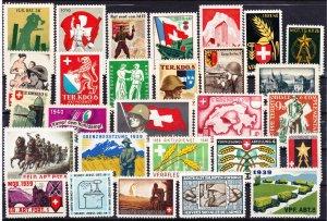 Swiss Military Stamps, Unused, 28 designs (-003)