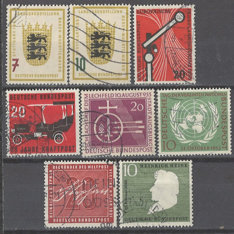 COLLECTION LOT # 2333 GERMANY 8 STAMPS 1955+ CV+$25