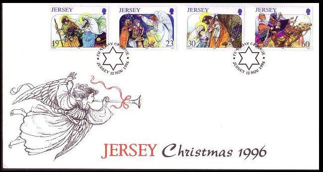 Jersey Christmas FDC SG#764-767