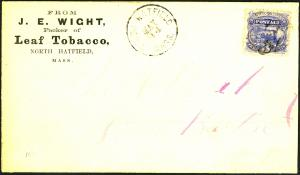 U.S. #114 Used On Cover