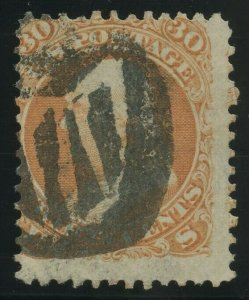 #71 30c USED WITH FANCY CANCEL BV3575