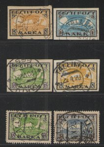 Estonia 1919-22 lot Used VG - Viking ship perf and Imperf issues