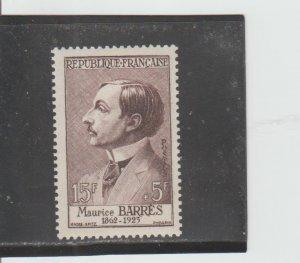 France  Scott#  B307  MH  (1956 Maurice Barres)