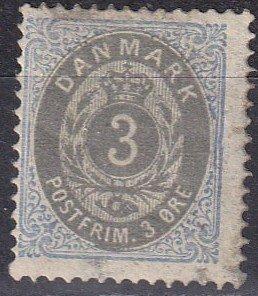 Denmark #25 Used  CV $15.00 (Z6372)