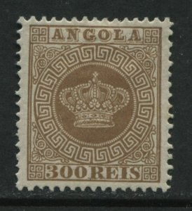Angola 1877 300 reis perf 12 1/2 mint o.g. hinged