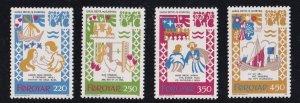 Faroe Islands #86-89  MNH  1982  medieval ballad of chivalry